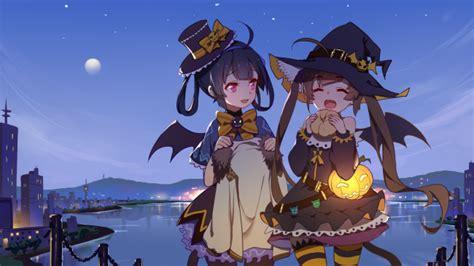 wallpaper azur lane pinghai ninghai halloween sky