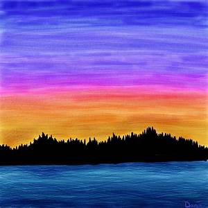 Sunset on the Inlet | Jedi Jaz's Art Blog