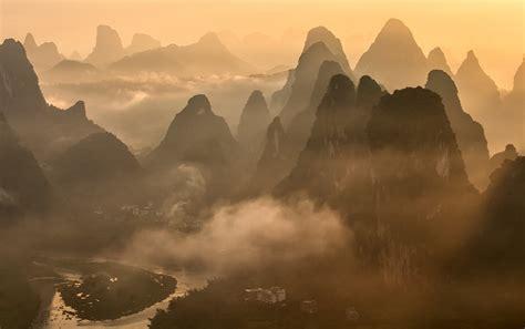 nature landscape photography mountains river mist