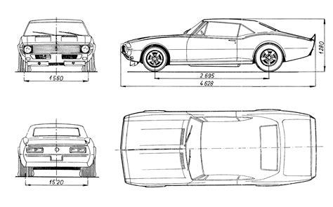 Chevrolet Camaro 1968 Blueprint