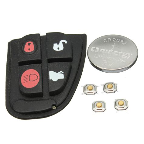 Jaguar S Type Battery Replacement by Remote Key Fob Repair Kit Rubber Pad W Battery For