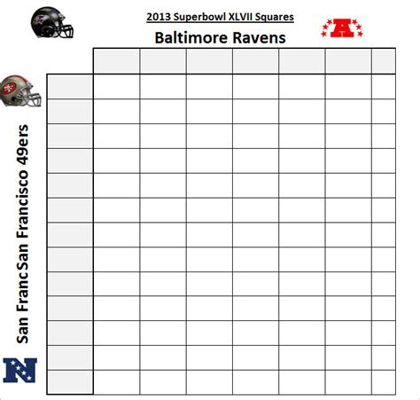 Bowl 2015 Squares Template by Search Results For Blank Bowl Squares Sheet For