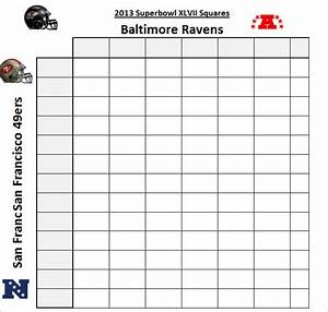 super bowl squares template free premium templates With super bowl 2015 squares template