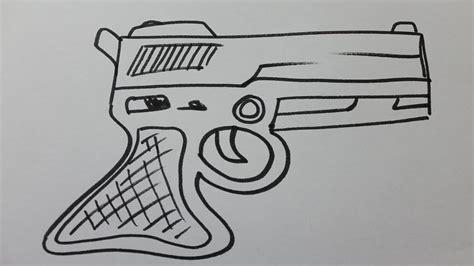 comment dessiner un pistolet facile