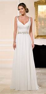 best 25 chiffon wedding dresses ideas only on pinterest With plain simple wedding dresses