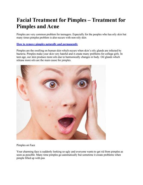 How To Remove Pimples Naturally And Permanently By Health