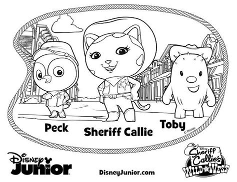 sheriff callie coloring pages sheriff callie coloring pages west howdy partner