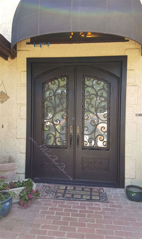 tuscany blackgold double entry iron front doors