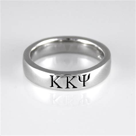 tbs sterling silver greek letter ring thin band  greek marketplace