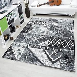 davausnet tapis salon gris blanc noir avec des idees With tapis pour salon gris