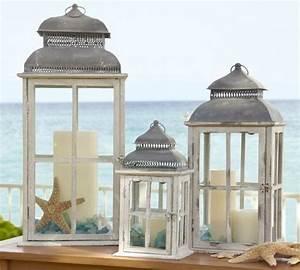 Laterne Kerze Draußen : strand deko ideen windlichter kerzen seestern seeglas ~ Watch28wear.com Haus und Dekorationen