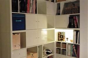 Ikea Bibliothèque Blanche : une biblioth que d 39 angle sur mesure avec kallax ~ Teatrodelosmanantiales.com Idées de Décoration