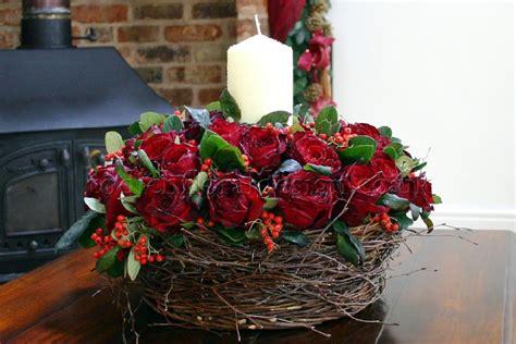 christmas flower arrangements floral arrangements