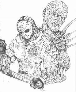Jason Vs Freddy - Free Coloring Pages