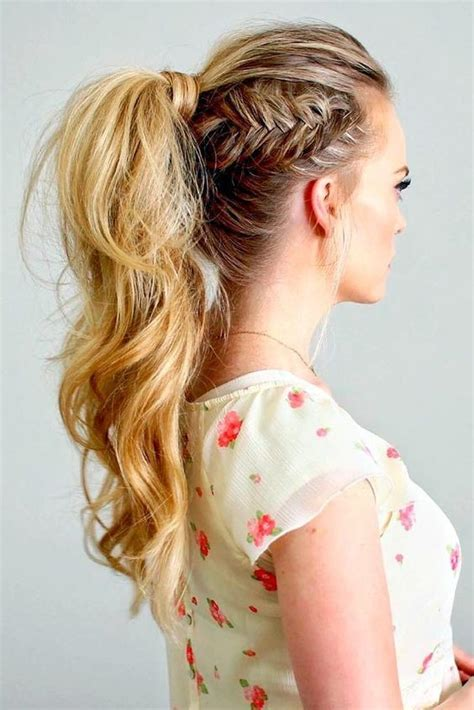 side fishtail ponytail  coolest ponytail hairstyles