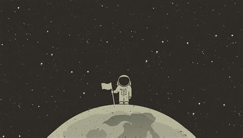 #astronaut, #simple Background, #simple, #space, #flag