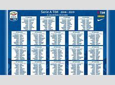 Calendario Serie A 20182019 PDF da stampare