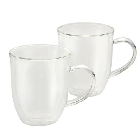 Bonjour Coffee 2piece Insulated Glass Latte Cup Set51286