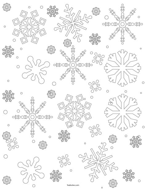 Free Snowflake Template: Easy Paper Snowflakes To Cut And