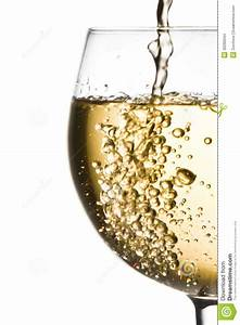 White Wine Pouring Into Half Glass With Space For Text ...