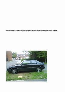1989 1996 Rover 214 Petrol  1990 1995 Rover 414 Petrol
