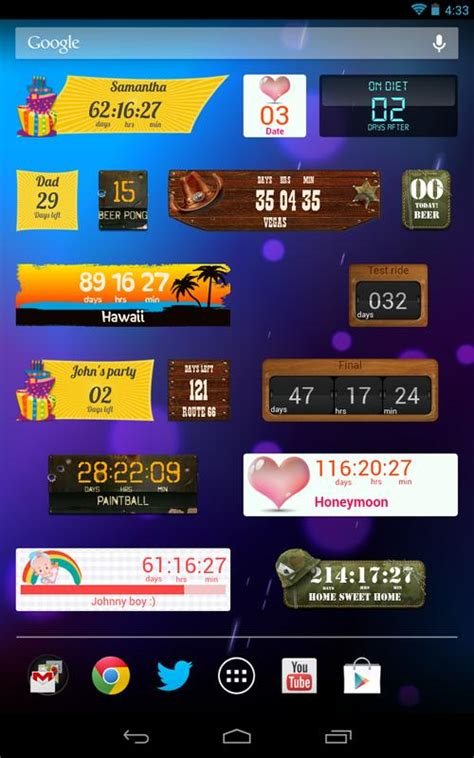 countdown days appwidget  android apk
