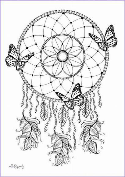 Mandala Imprimer Coloring Catcher Dream Coloriage Tattoo