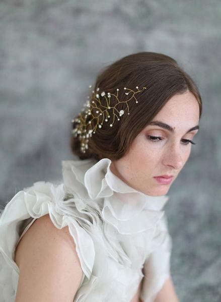 bridal hair adornment floating pearl  bead hair wisp