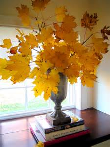 Centerpiece with Fall Leaves