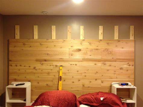 cedar plank headboard  love  thrifty