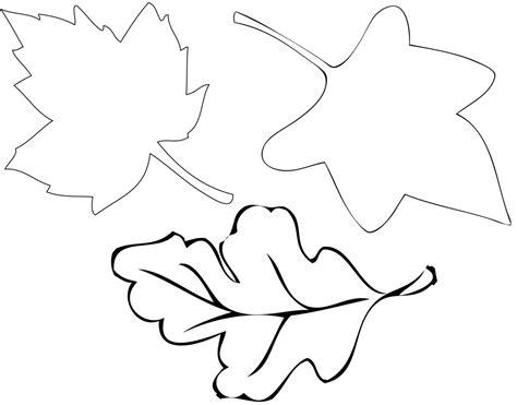 autumn leaf stencil clipart