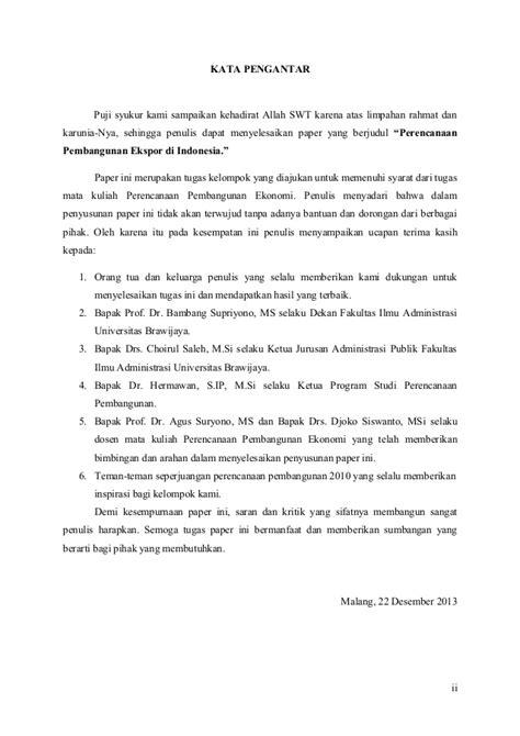 Perencanaan pembangunan ekspor revisi 3 kelompok 3 revisi