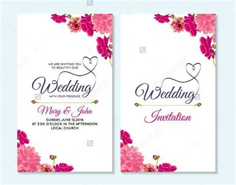 Wedding Card Template 91+ Free Printable WordPSD