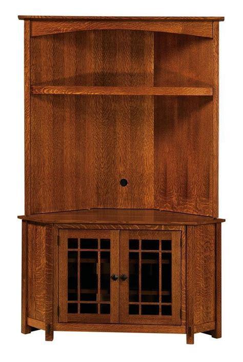 amish mccoy corner hutch entertainment center