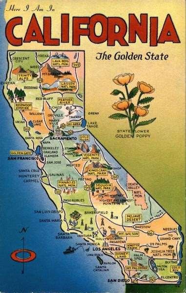 california  golden state maps