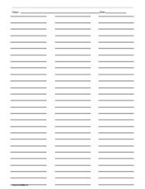 Three Column Line Ruled Templates by Ruled Paper With Three Columns Printables Lists