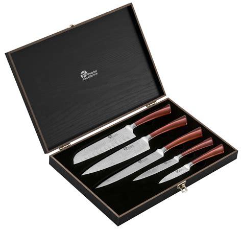 couteau professionnel cuisine coffret 5 couteaux de cuisine pradel effet damas