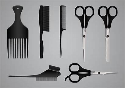 Tools Salon Equipment Vector Realistic Tool Vectors