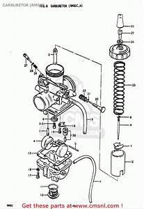 Suzuki Rm80 1977-1979  Usa  Carburetor  Rm80c