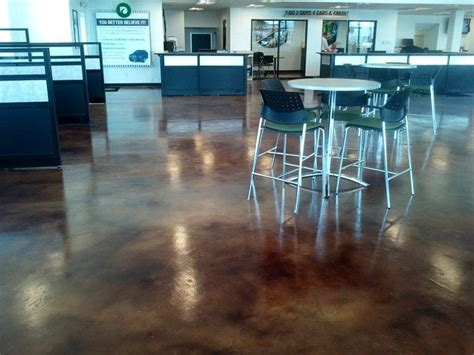 floor decor grand prairie tx stained car dealership floor commercial floors baker s decorative concrete in grand prairie