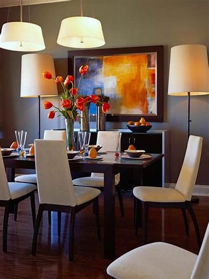 Dining Living Rooms Orange Hgtv Colorful Decor