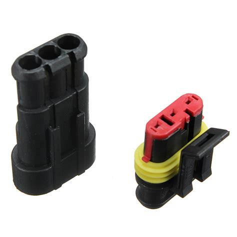 Car Pin Way Sealed Waterproof Electrical Wire Connector