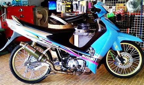 Modifikasi Smas by Modifikasi Suzuki Smash New Titan Racing Drag Simpel