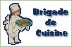 brigade de cuisine organigramme cross stitch designs