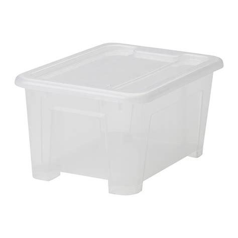 ikea boite plastique de rangement samla bo 238 te avec couvercle transparent 28x20x14 cm 5 l ikea