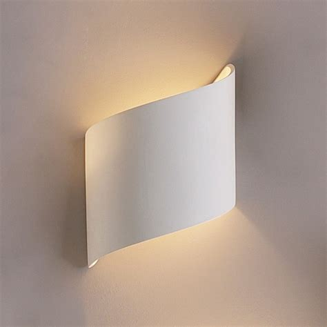 flowing ribbon wall sconce contemporary ceramic