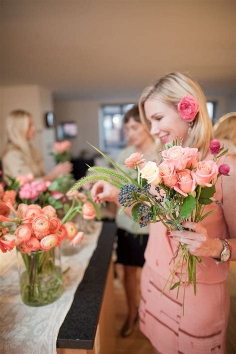 Diy Flower Arranging Bridal Shower  Girl Weddings