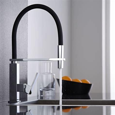 robinet mitigeur douchette cuisine mitigeur cuisine noir avec douchette kt0039c plomberie