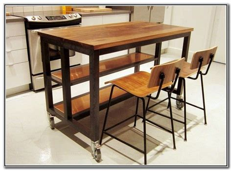 Kitchen Island With Seating And Wheels by Kitchen Island On Wheels With Seating Diy For The Home