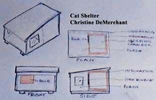 side split house plans how to build a feral cat shelter or a outside cat house